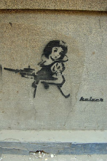 Snow White with a Gun by Keizer on Mahmoud Bassiouny Street